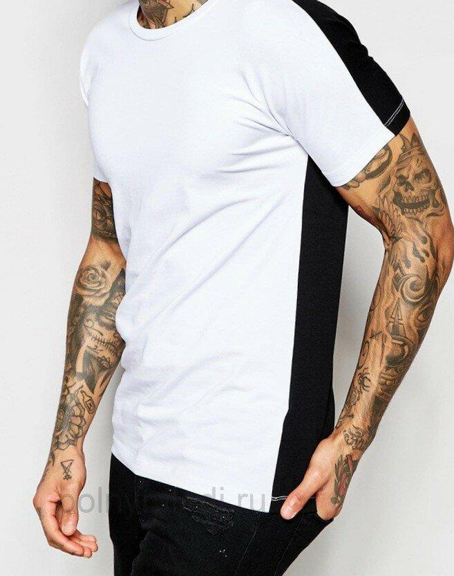Идеи переделки Стильная мужская футболка Монохром