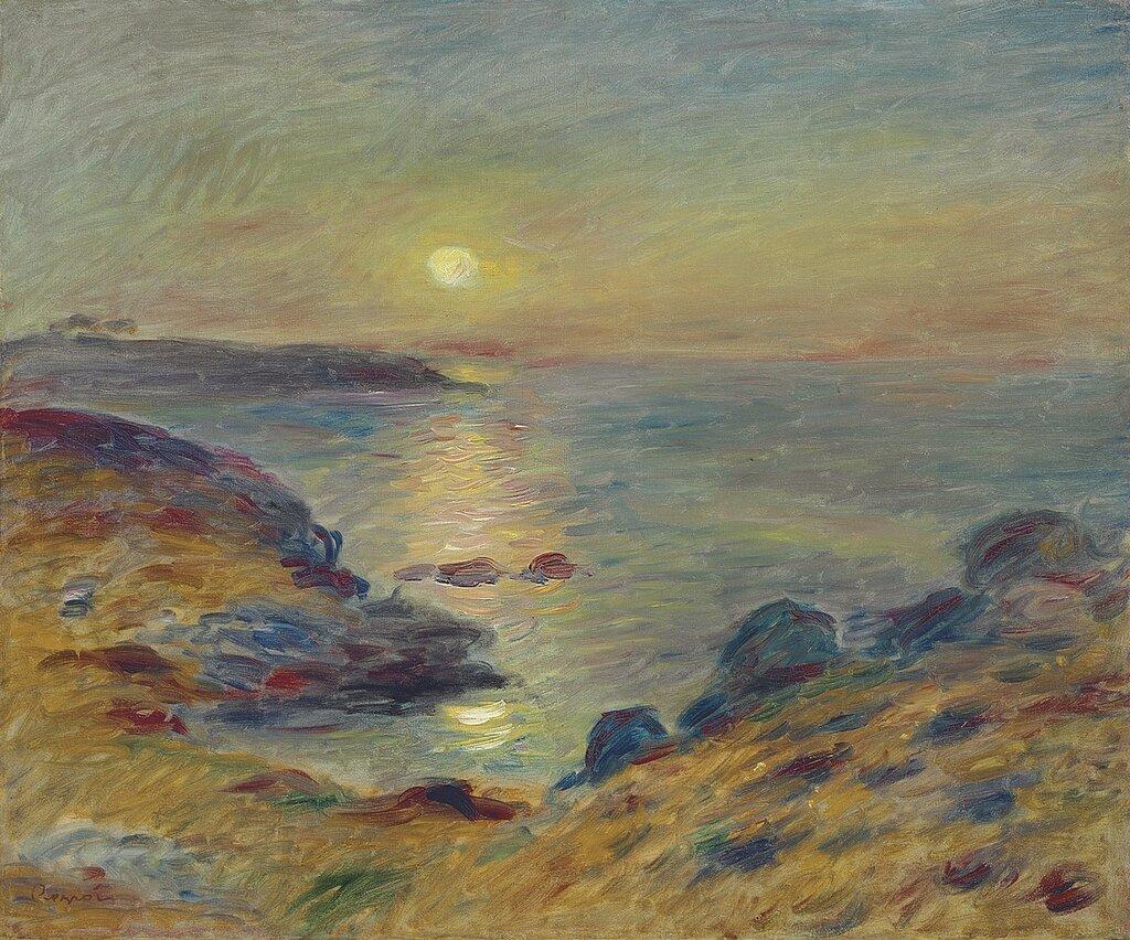 Sunset at Douarnenez, 1883.jpg
