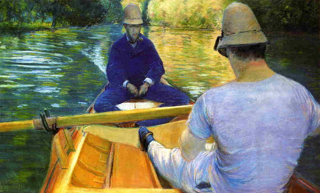 Boaters on the Yerres  -  1877 - Private collection - Drawing - pastel.jpg