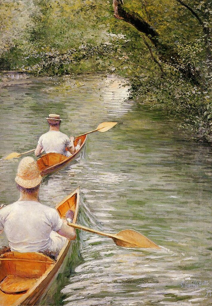 Perissoires (also known as The Canoes)  -  1878 - Musee des Beaux-Arts de Rennes - Painting - oil on canvas.jpg