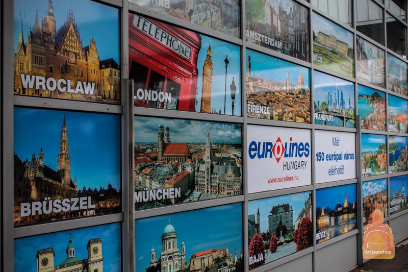Автобусы ездят из Будапешта по всей Европе