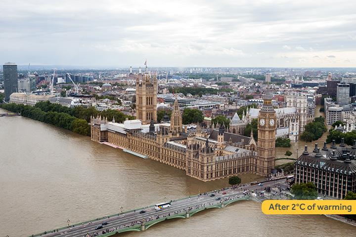Как будут выглядеть известные города после глобального потепления