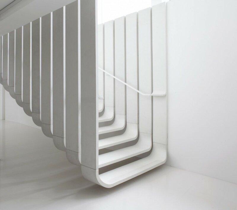 Лестница для дома на второй этаж дизайн фото 22
