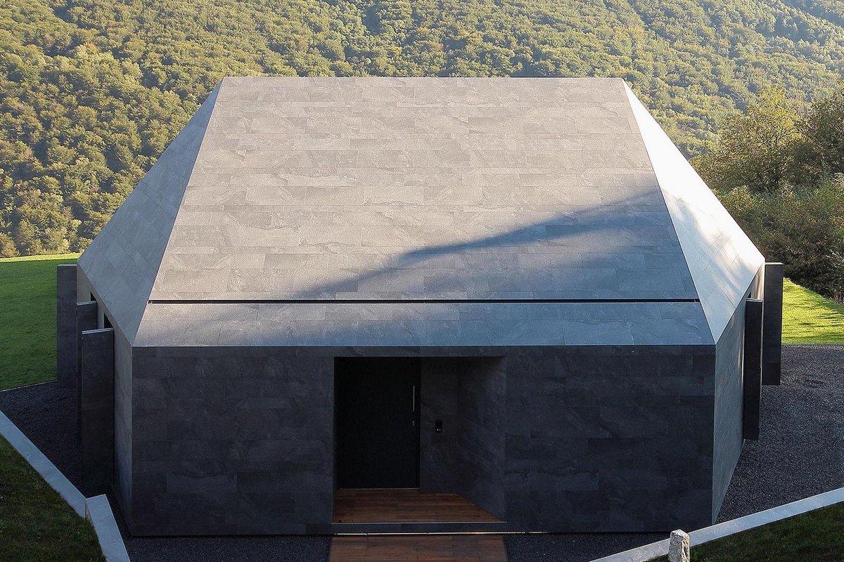 JMA, Montebar Villa, геометрия дома, дом на склоне горы, дом с видом на долину, потрясающий вид из окон дома, дома в Швейцарии