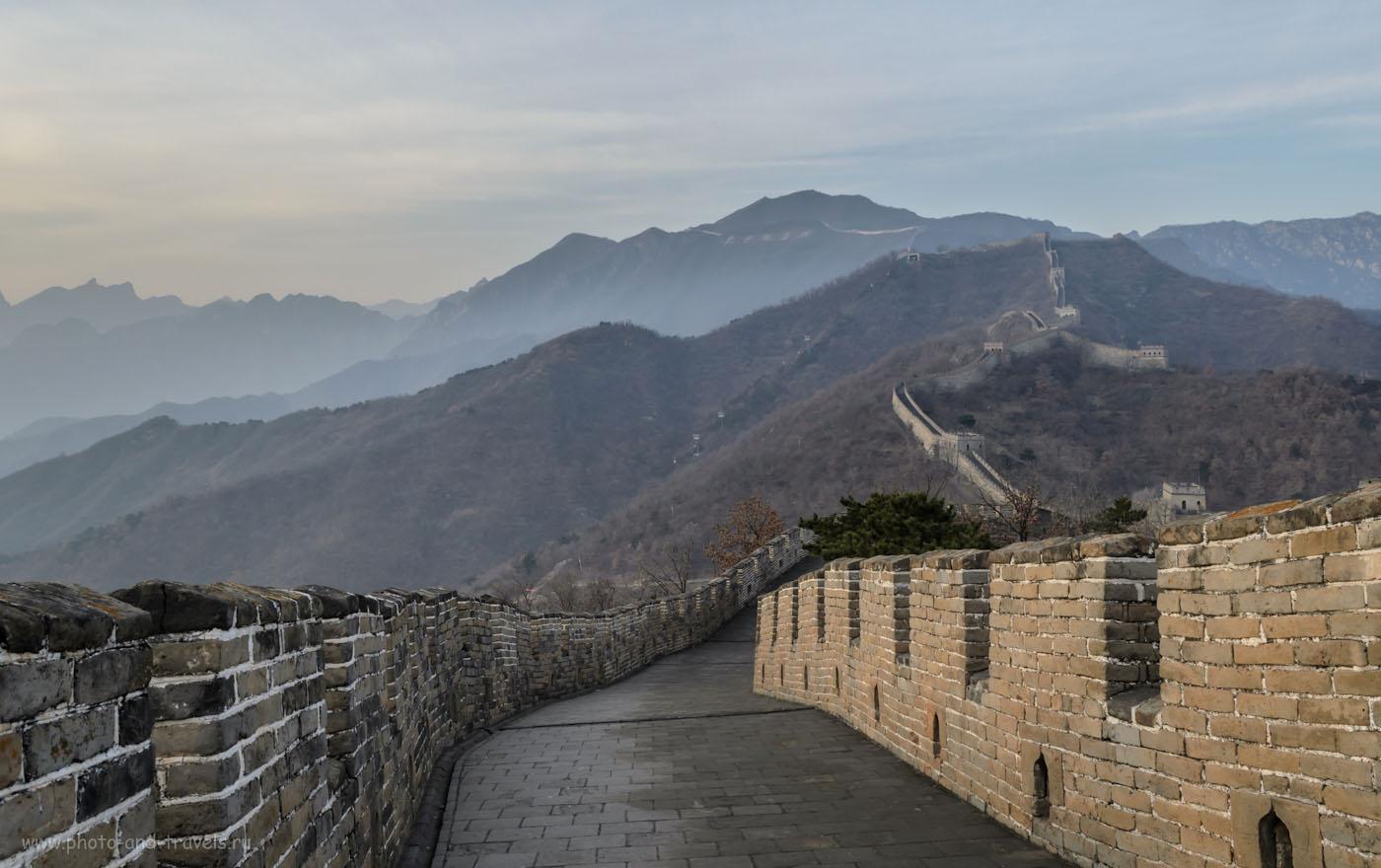 Фотография 7. Вечер на Великой Китайской Стене. Поездка в Китай самостоятельно. Экскурсии из Пекина.