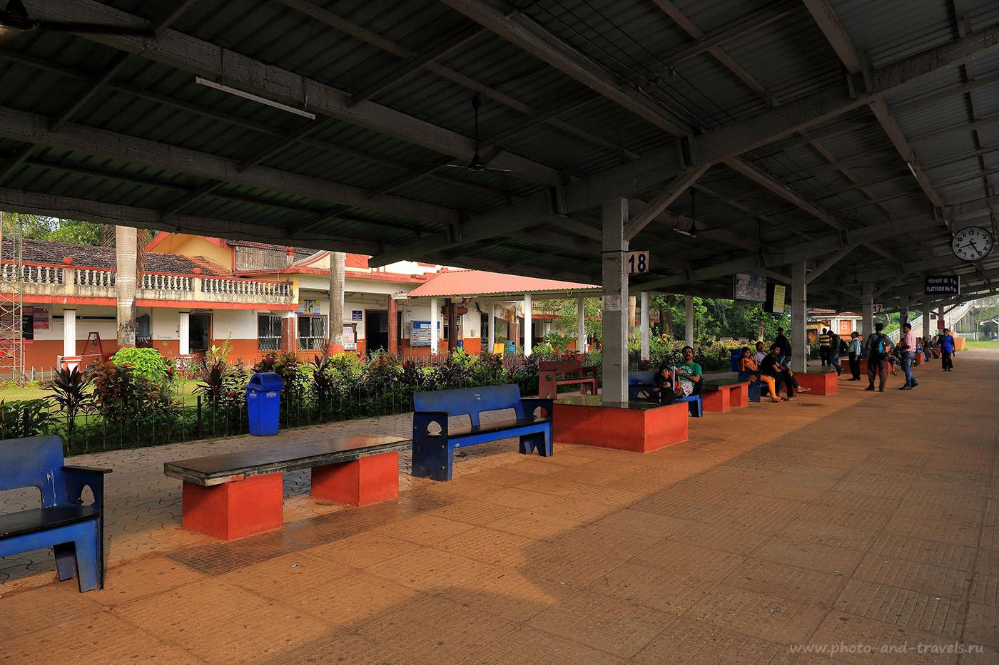 14. Станция Кармали. Рассказа про поездку в Старый Гоа (24-70, 1/200, -1eV, f9, 24mm, ISO 250)