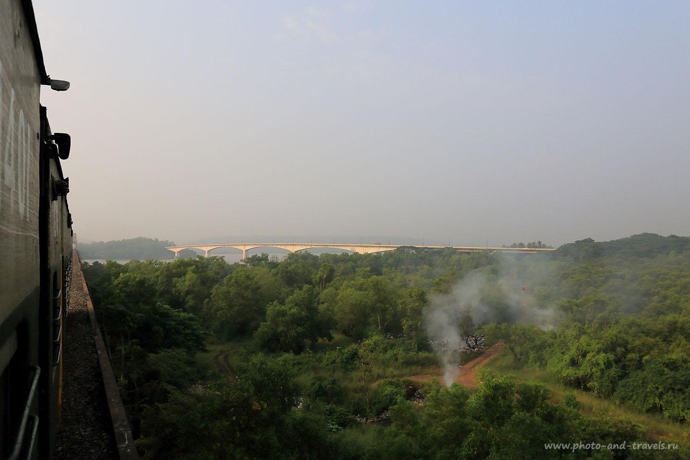 13. Поезд, мост, помойка. Отзывы об отдыхе в Индии самостоятельно в несезон. (24-70, 1/1250, -1eV, f9, 24mm, ISO 250)