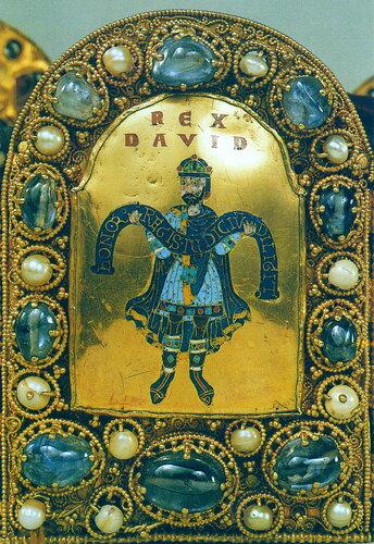 Имперская корона (фрагмент: миниатюра, изображающая Царя Давида )