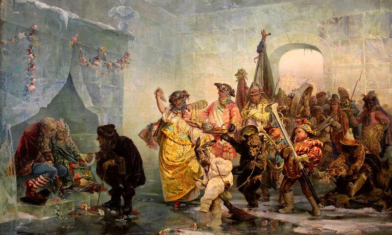 В.И.ЯкобиЛедяной дом. 1878 г., холст, масло,