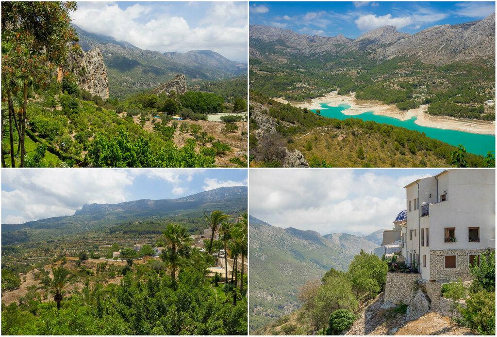 Крепость Гвадалест в Испании