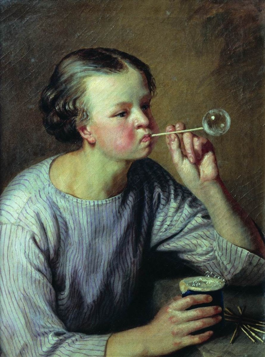 Крестьянский мальчик, пускающий мыльные пузыри.jpg