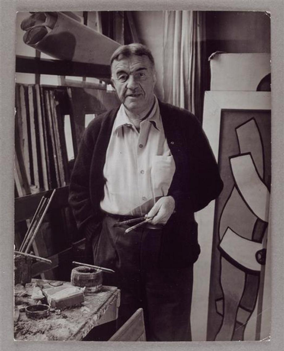 1937. Фернан Леже в своей мастерской