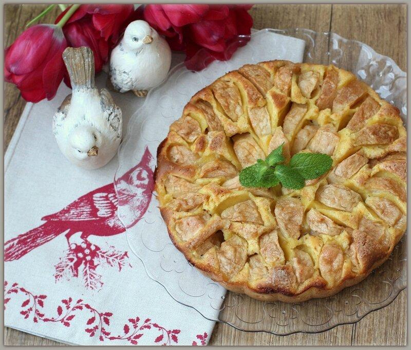 Итальянский провинциальный яблочный пирог