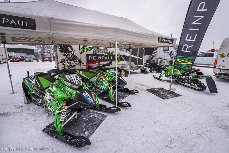 Невероятные фото чемпионата Финляндии по снегоходному спорту