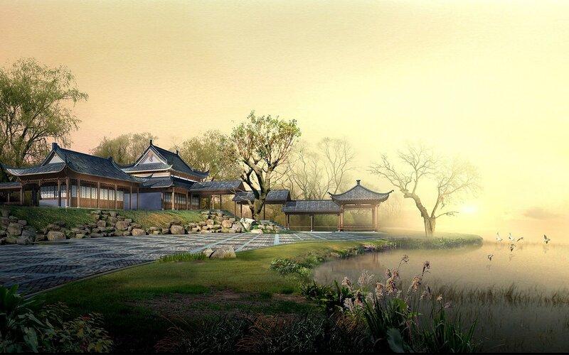 Красивые китайские пейзажи. Фотографии природы Китая, похожей на картины 0 1c4d44 871b14b3 XL