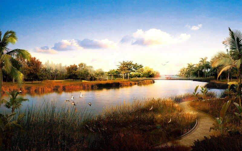Красивые китайские пейзажи. Фотографии природы Китая, похожей на картины 0 1c4d55 3cfcee23 XL