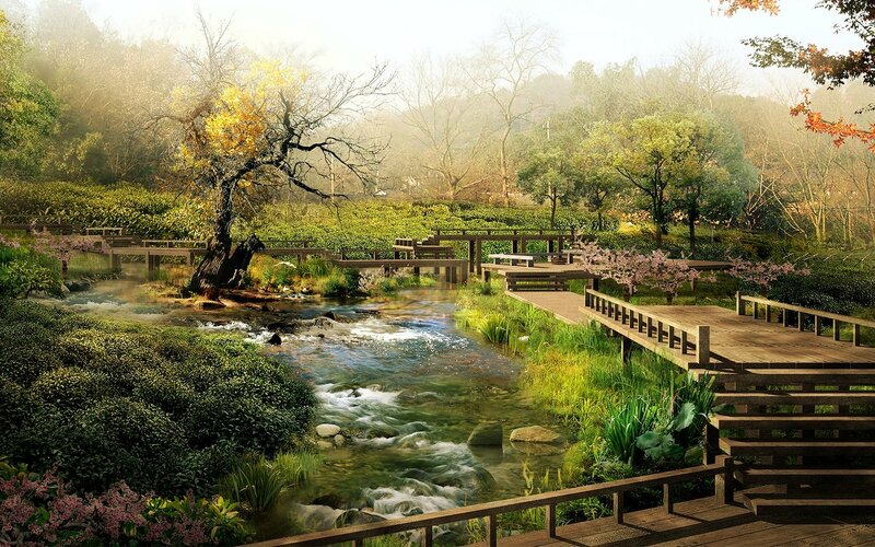 Красивые китайские пейзажи. Фотографии природы Китая, похожей на картины 0 1c4d5c 2d6334d8 XL
