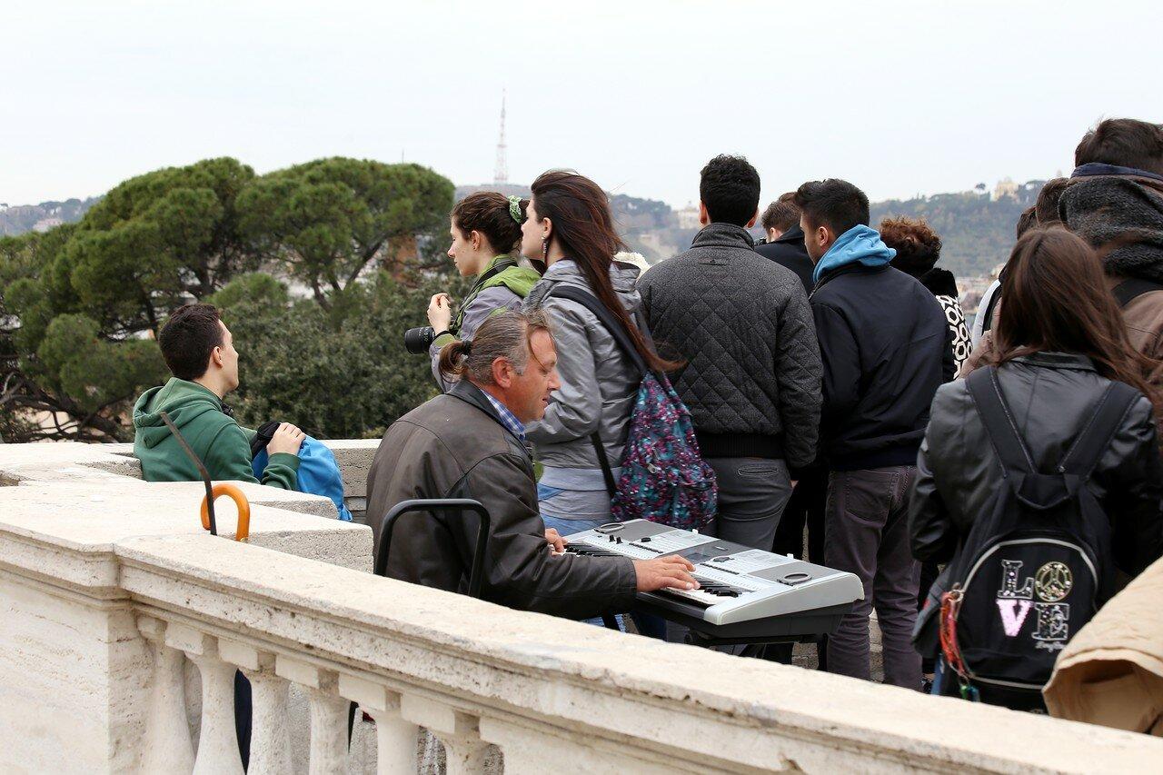 Рим. Вид с террасы Пинчо