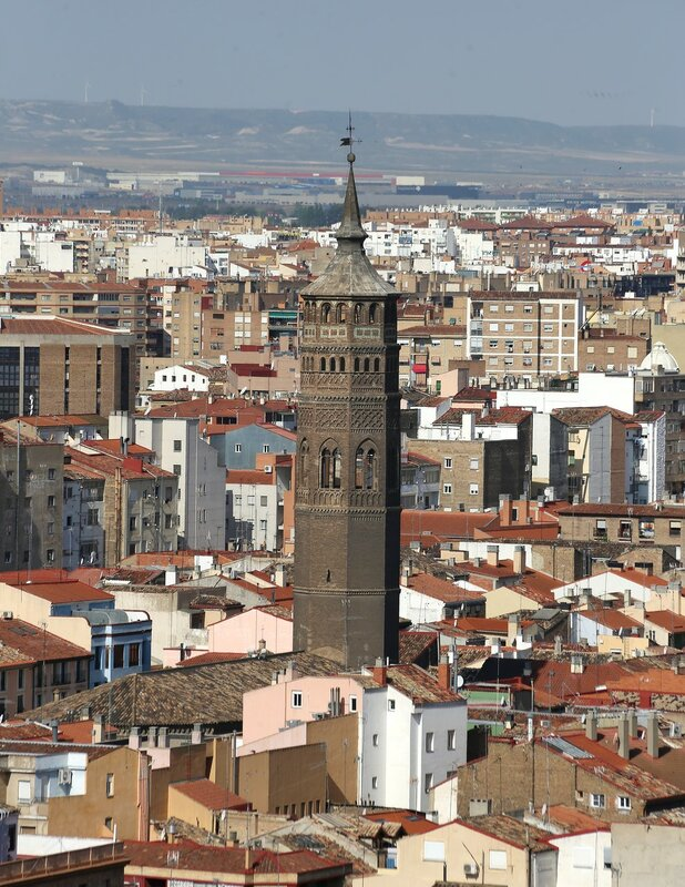 Zaragoza view from the Cathedral of Pilar tower