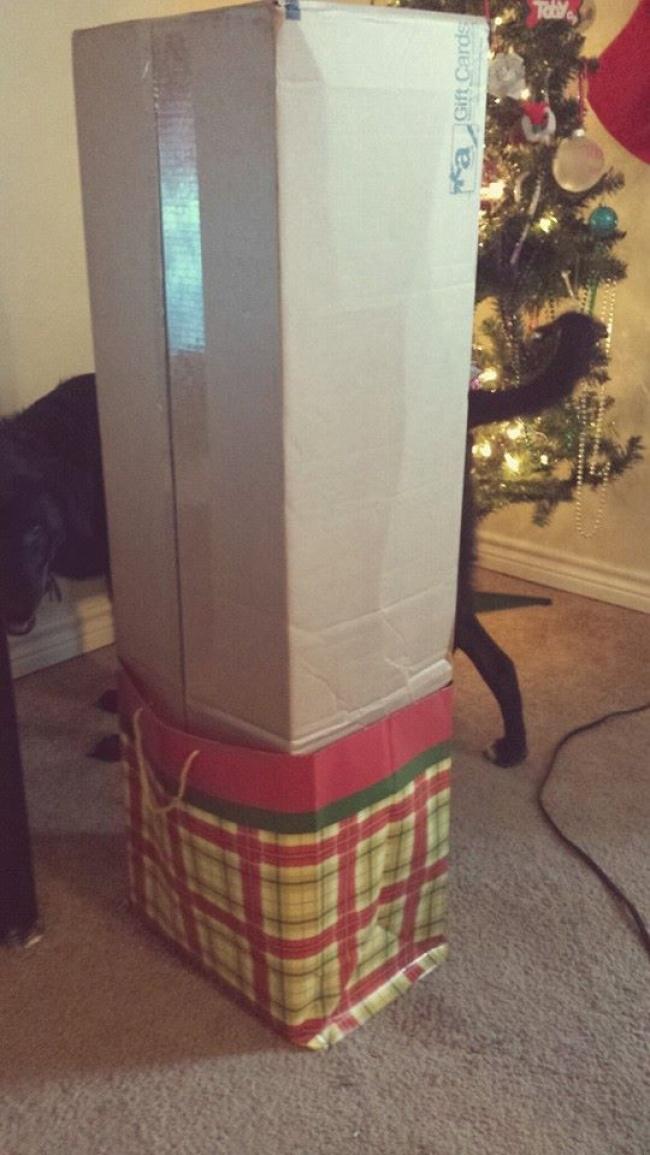 «Моя жена хотела украшение наРождество... Недумаю, что она будет сильно счастлива».
