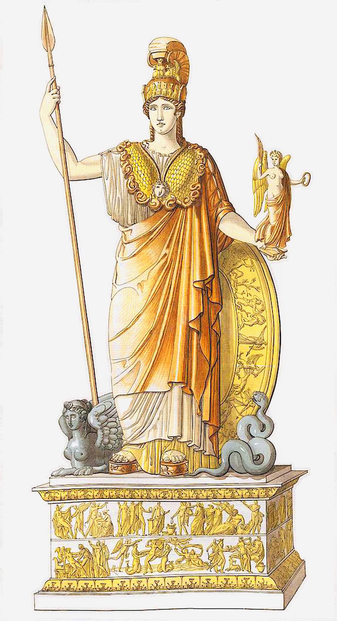 8. Золотая Минерва в Парфеноне / Restitution de la Minerve d'or et d'ivoirc du