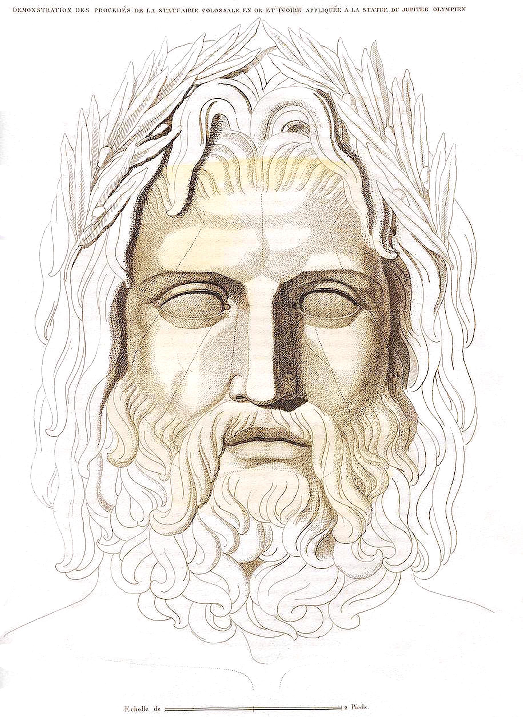 30. Юпитер из слоновой кости  Demonstration des precedes de la statuaire colossale en ivoire, appliquee au Jupiter Olympien en ivoire