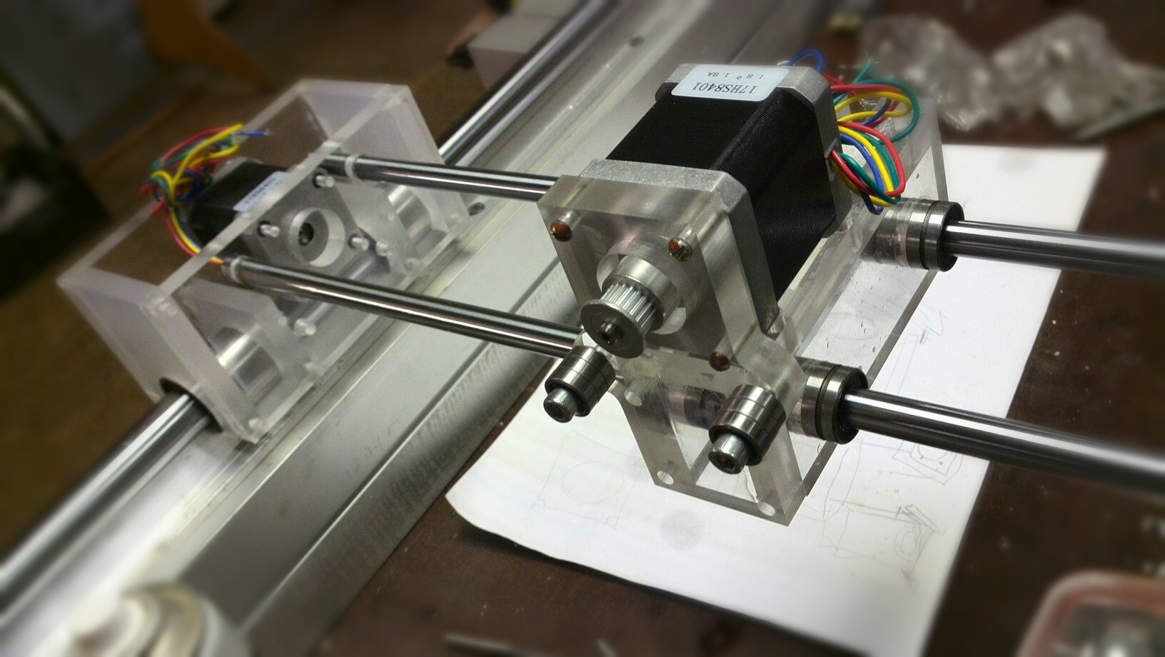 connecting nodes of a milling machine