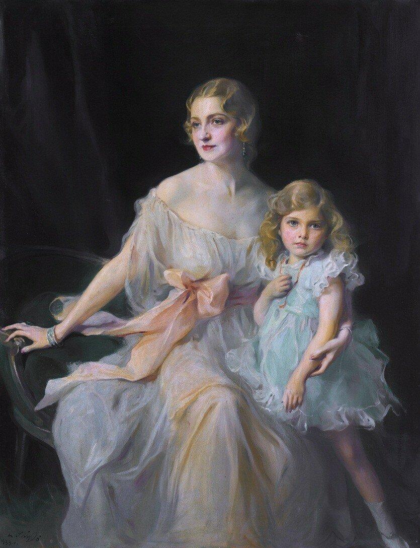 1933 Портрет миссис Клод Ли и мисс Вирджинии Ли