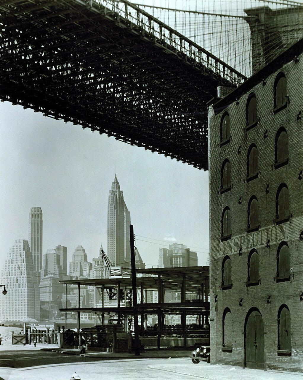 1936. Бруклинский мост и район доков, Бруклин