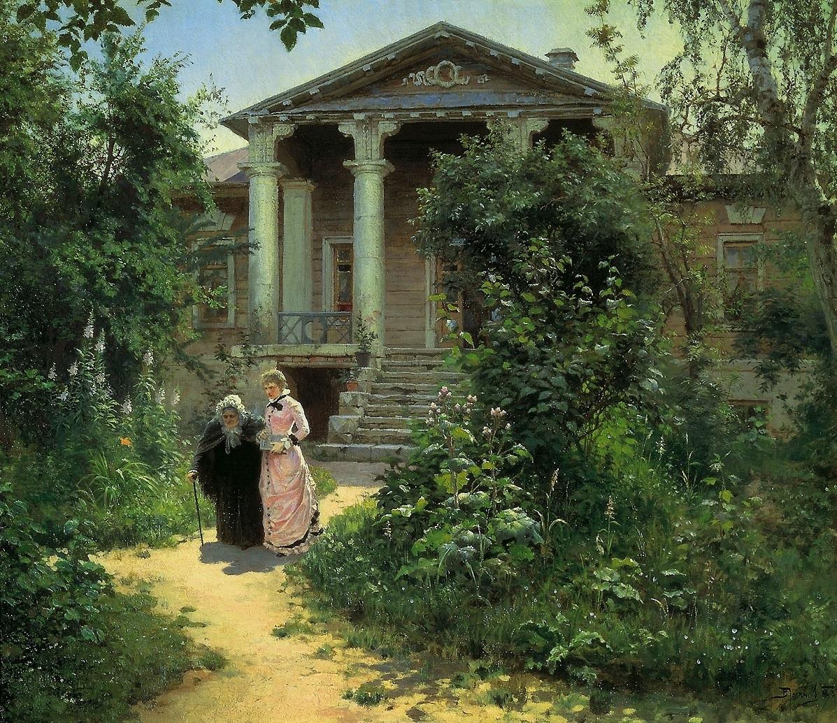 Бабушкин сад,__пейзаж__ 1878, Поленов Василий Дмитриевич (1844-1927).