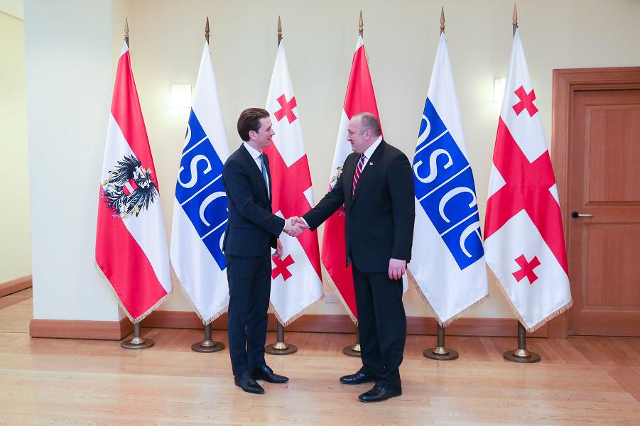 Курц и президент Грузии Маргвелашвили.png
