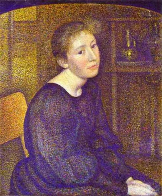 PORTRAIT OF MME LEMMEN (1893)  Жорж Леммен