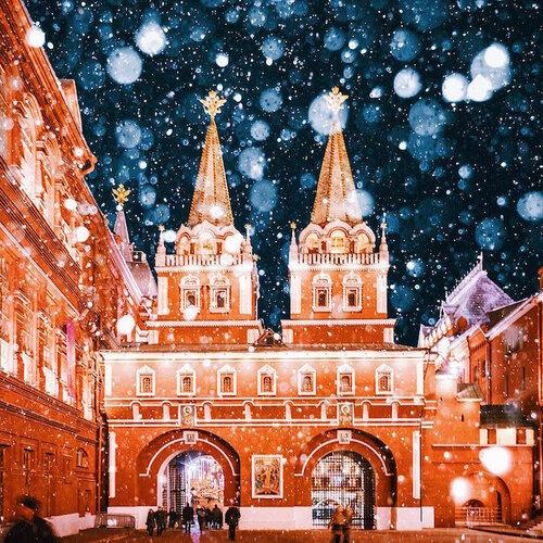 Магия рождества в Москве в фотографиях Кристины Макеевой