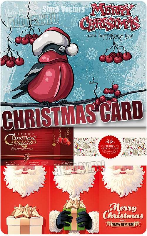 Новогодние открытки - Векторный клипарт