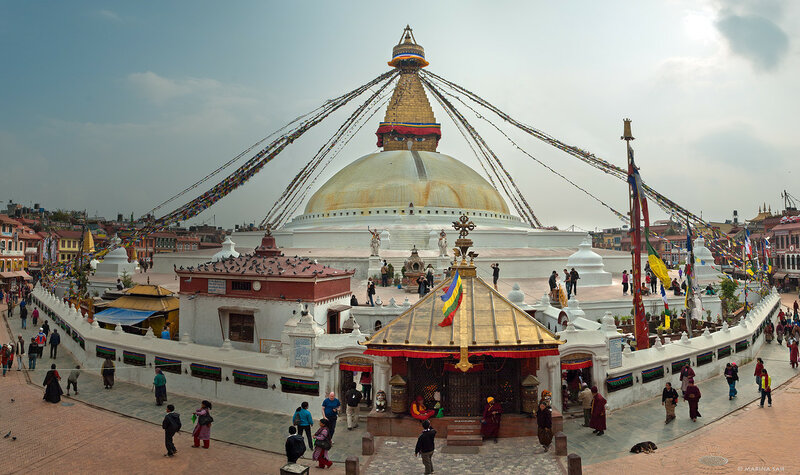Катманду. Ступа Бодднатх
