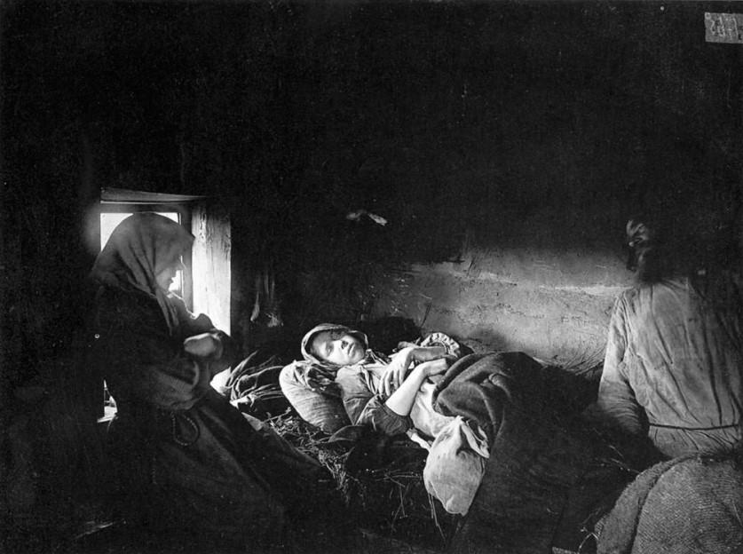 Больные тифом в городе Княгинине. 1891-1892 гг. Негатив 18 ? 24 см.