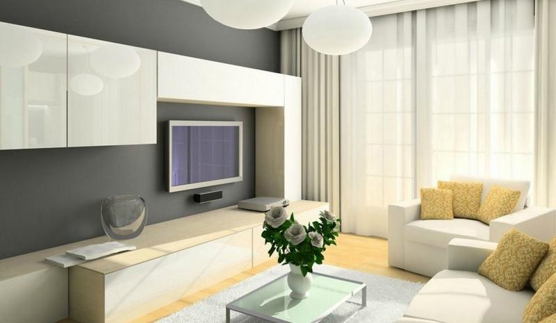 Дизайн интерьера гостиной в светлых оттенках фото 25