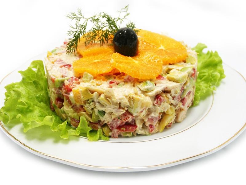 И рецепт салатов на банкеты