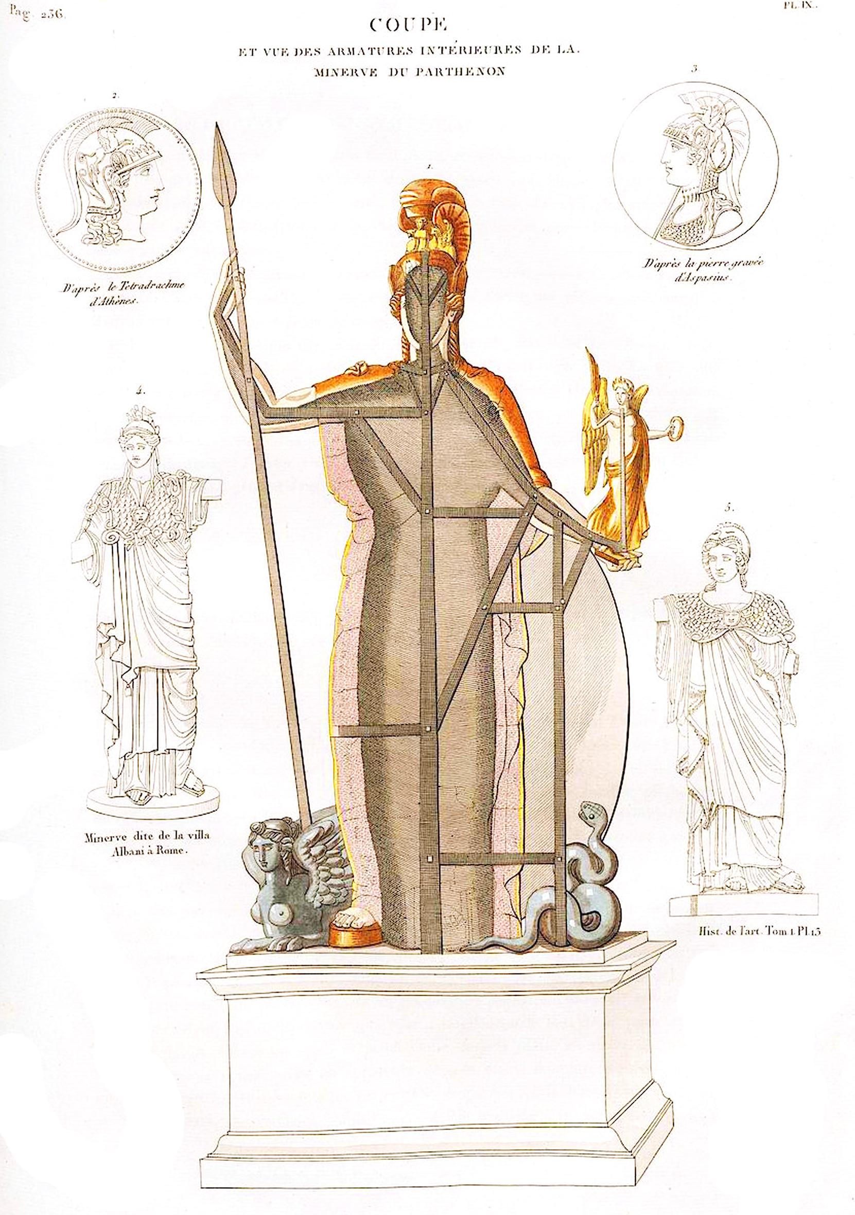 9. Внутренности Минервы в Парфеноне Coupe et vue des armatures interieurcs de la Minerve du Parthenon
