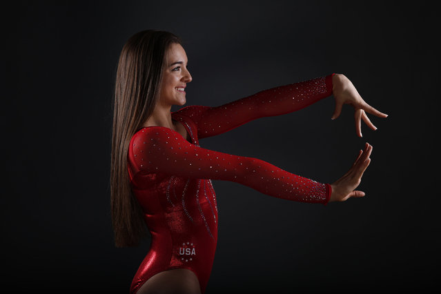 Gymnast Maggie Nichols poses for a portrait at the U.S. Olympic Committee Media Summit in Beverly Hi