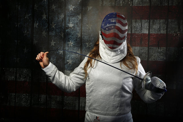 Fencer Mariel Zagunis poses for a portrait at the U.S. Olympic Committee Media Summit in Beverly Hil