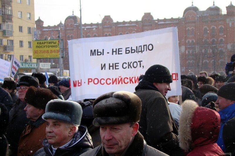 Сторонники Путина.