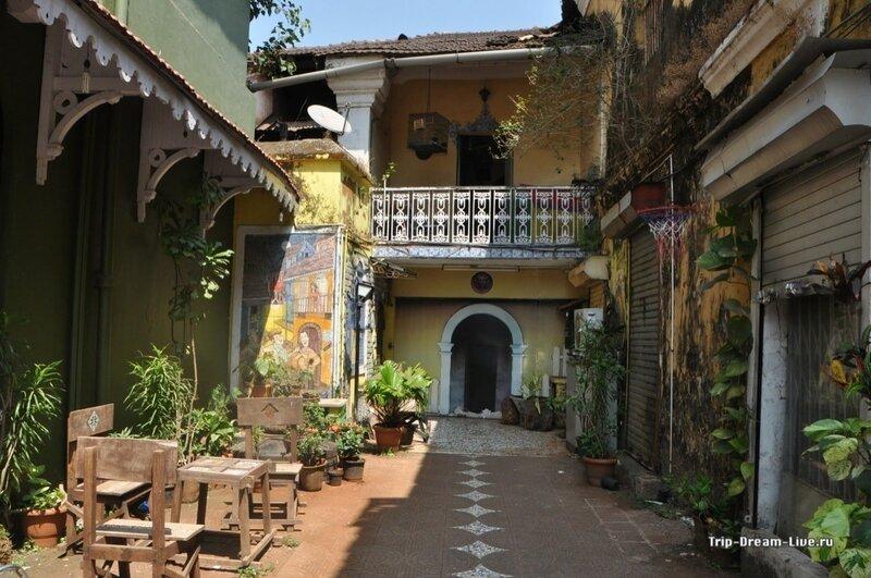 Чудом сохранившийся португальский дворик в Пананджи