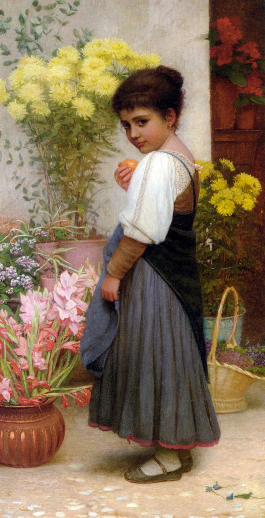 Продавщица цветов