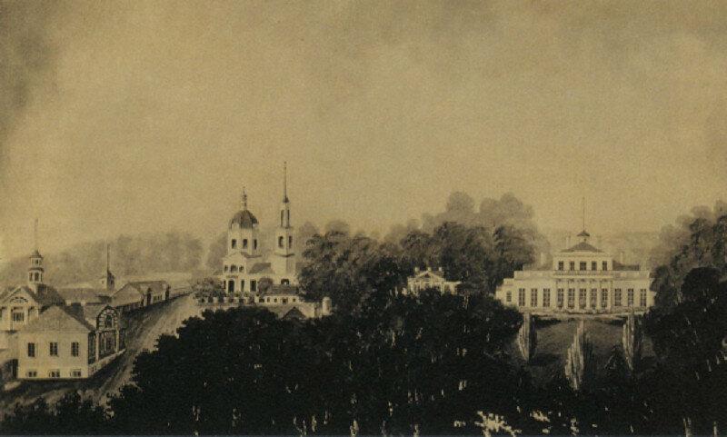 Усадьба Овстуг. Рис. Драницына. 1849 г