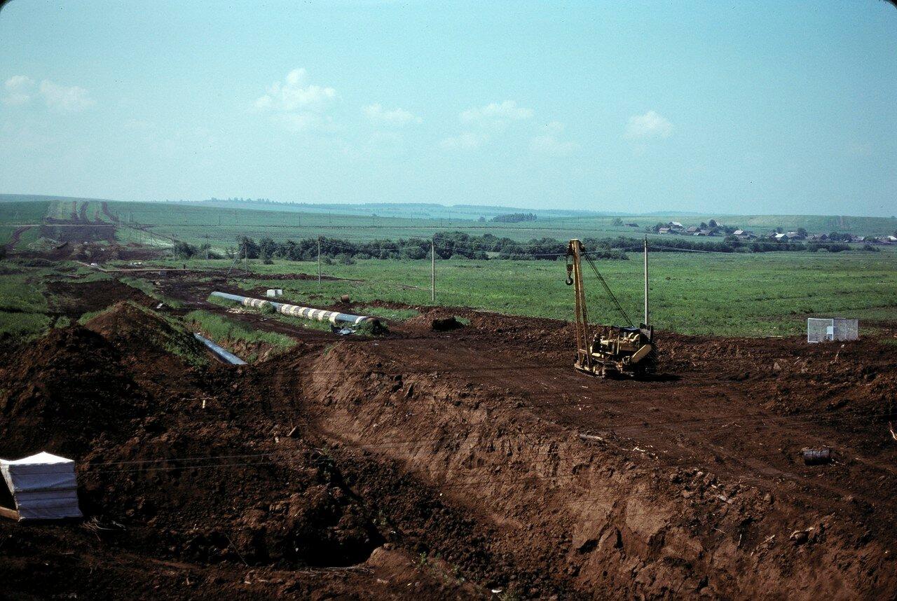 Строительство газопровода к востоку от Перми