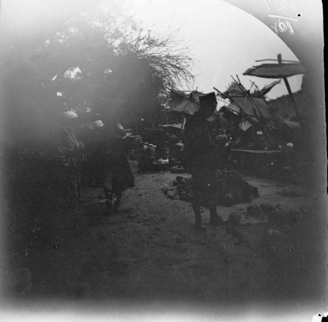 3 ноября. Бухара. Томас Аллен выбирает дыни на уличном рынке