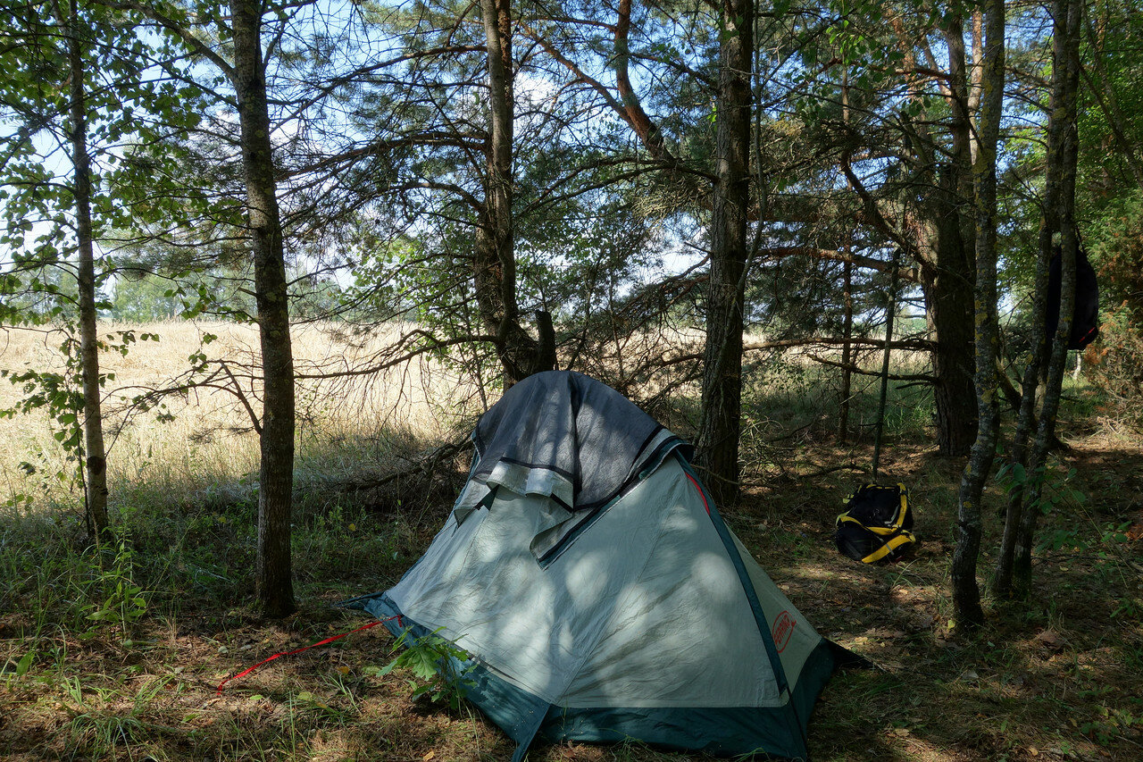 привал-ночевка №15, на краю леса