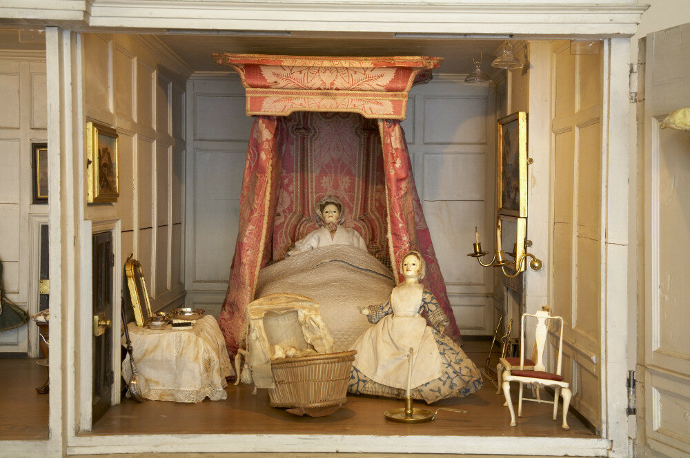 Close view of the Doll's-House, kept in the Stewards Hall at Uppark, West Sussex