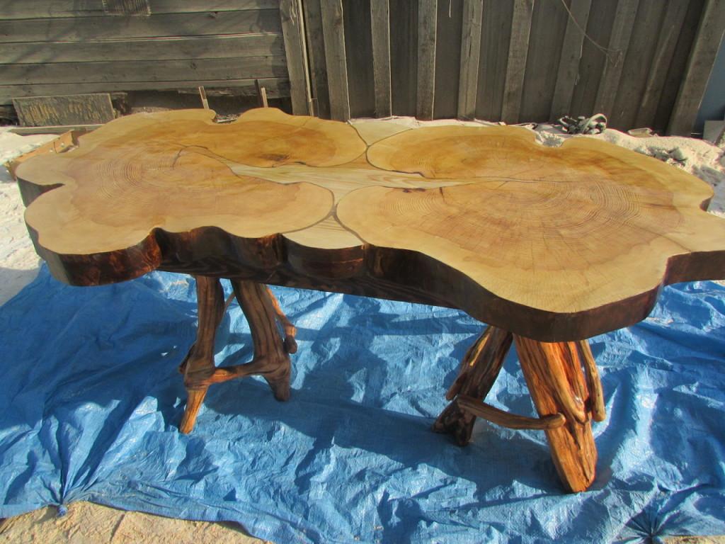 Стол из спилов дерева своими руками фото - Thomastours.RU